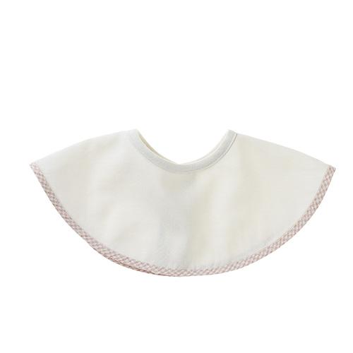 肌側シルク、外側コットンのふんわり2重ガーゼのスタイ ピンク