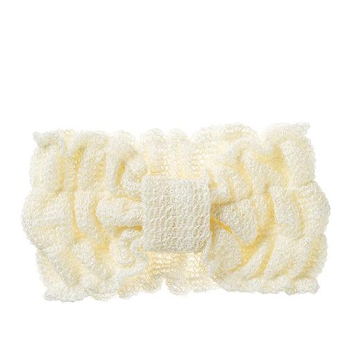 シルク ふんわり編んだヘアバンド