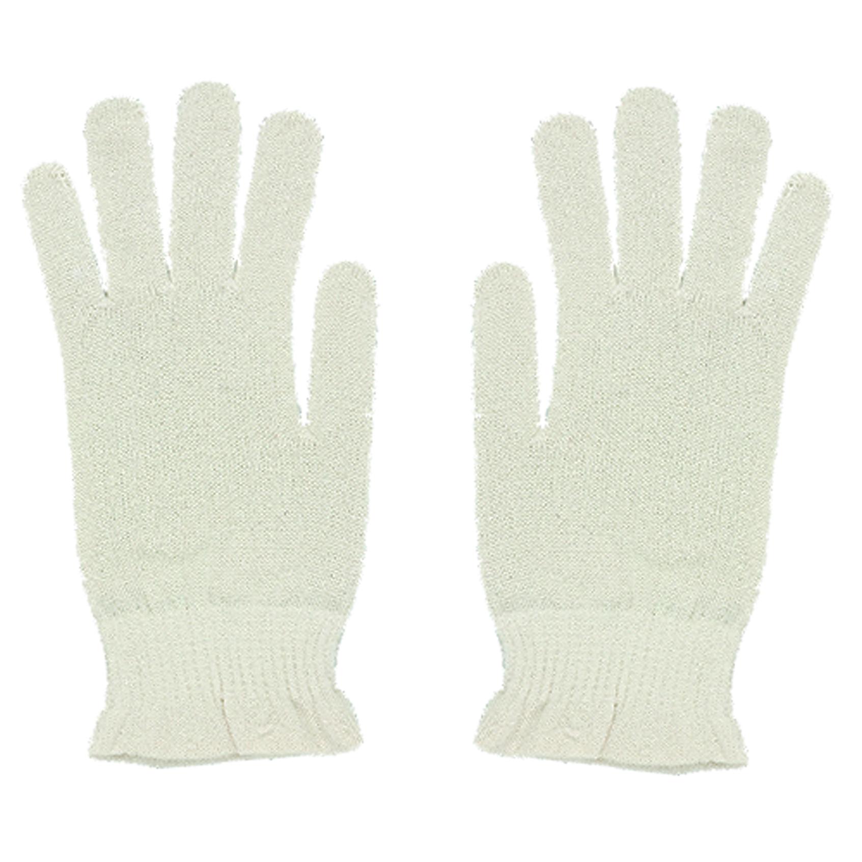 シルク おやすみ手袋 オフホワイト