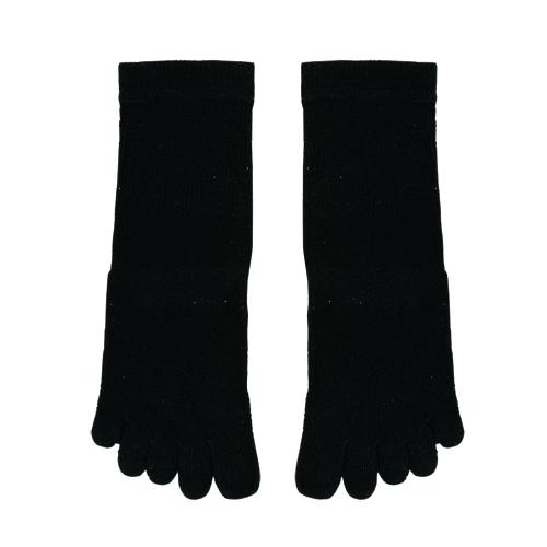 シルク 5本指ソックスLサイズ ブラック